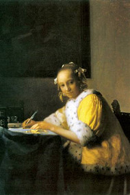 Woman in Yellow by Vermeer