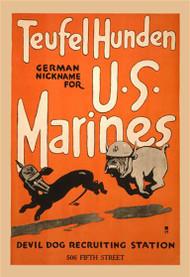 Teufel Hunden German Nickname for US Marines