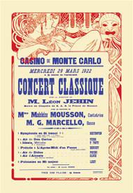 Concert at the Monte Carlo Casino 1922