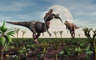 Tyrannosaurus Rex With A Freshly Killed Young Sauropod Dinosaur II