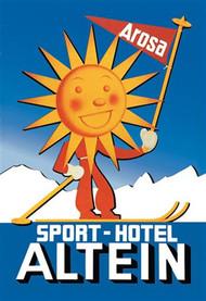 Sport Hotel Altein: Sun-Headed Skier