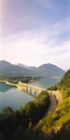 Bridge across Sylvenstein Lake