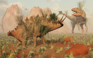 Living Fossils Of A Stegosaurus And An Allosaurus Come Face To Face