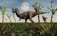 Tyrannosaurus Rex With A Freshly Killed Young Sauropod Dinosaur I