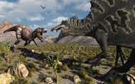 A Confrontation between a T. Rex and a Spinosaurus Dinosaur II
