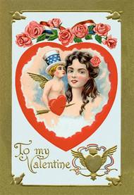All American Patriotic Valentine