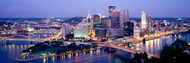 Pittsburgh Lit Up at Dusk I