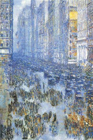 Fifth Avenue by Hassam
