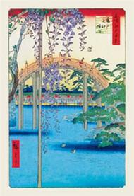 Grounds of the Kameido Tenjin Shrine by Hiroshige