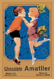 Chocolate Amatller: Barcelona (Kissing Children)