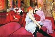 Salon in The Rue de Moulins by Toulouse Lautrec