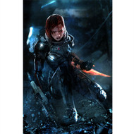 Mass Effect Wall Graphics: Commander Jane Shepard Cover Art II
