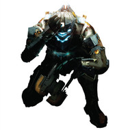 Dead Space Wall Graphics: Isaac Crouched Cutout Wall Graphics