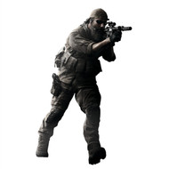 Medal of Honor Soldier Running Cutout