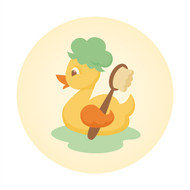 Caleb Gray Studio: Bath Time Ducky Brush Wall Badge