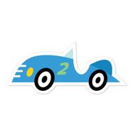 Caleb Gray Studio: Blue Race Car