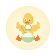 Caleb Gray Studio: Busy Duck Eating Wall Badge