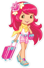 Strawberry Shortcake in Shorts with Luggage