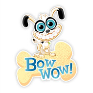 Twisted Whiskers Bow Wow Wall Badges