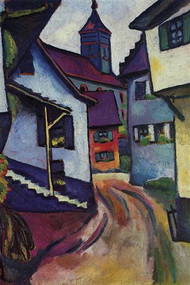 Street with a Church in Kinder by Macke
