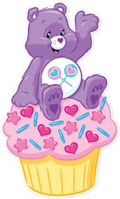 Care Bears Share Bear On Cupcake