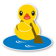 Paddleduck Wall Decals: Paddle Duck