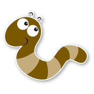 Paddleduck Wall Decals: William Worm