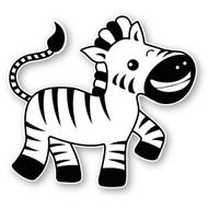 Paddleduck Wall Decals: Ziggy Zebra
