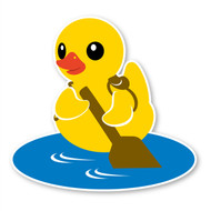 Paddle Duck 45 degree Removable Wall Decal