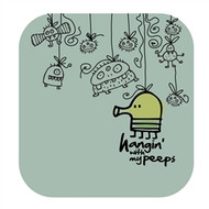 Doodle Jump Wall Badge: Hanging with My Peeps