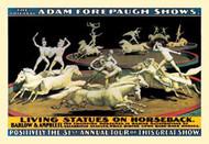 Living Statues on Horseback The Original Adam Forepaugh Shows