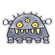 Space Monster Gray Robot (Five Legs)