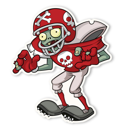zombie football player coloring pages - photo#23