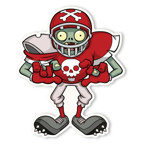 Zombie Football Player Coloring Pages