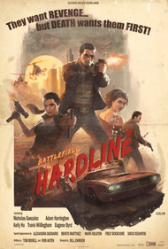 Battlefield Hardline 70's Poster Design