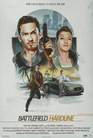 Battlefield Hardline Brush Poster Design