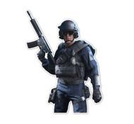Battlefield Hardline SWAT Operator 3/4 Character Cutout