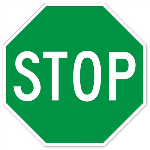 green stop sign wall graphic walls 360 rh walls360 com stop sign graphics morrisville stop sign graphic art