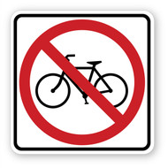 No Bikes Sign Wall Graphic