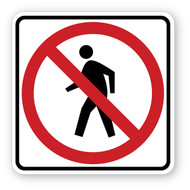 No Walking Sign Wall Graphic