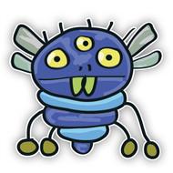 Blue Flying Monster (Three Eyes)