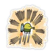 Doodle Jump Wall Badge: Rocket Doodle