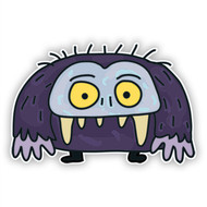 Purple Monster with Fangs