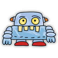 Space Monster Blue Robot (Red Shoes)