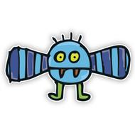 Blue Flying Monster (Striped Wings)