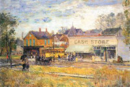 End of the Tram, Oak Park, Illinois by Hassam