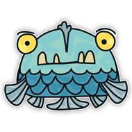 Doodle Jump Blue Fish Monster (Five Fins)