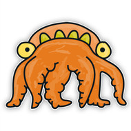 Doodle Jump Orange Sea Monster (Six Tentacles)