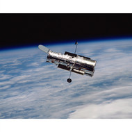 Hubble Orbiting Earth