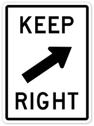 Keep Right Wall Graphic